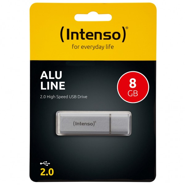 Intenso Alu Line 8 GB USB 2.0 Stick silber