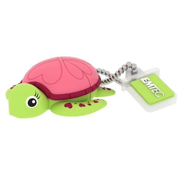 EMTEC USB FlashDrive 8GB Blister Animalitos (Schildkröten-Lady)
