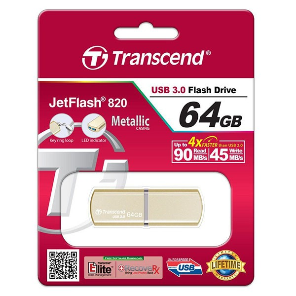 Transcend JetFlash 820 gold 64GB USB 3.0 TS64GJF820G
