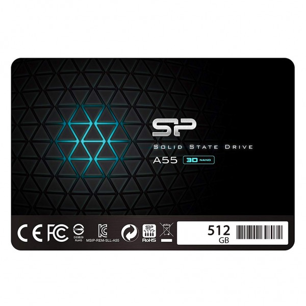 "Silicon Power A55 SSD 2,5"" 512 GB 3D Nand TLC SATA III Festplatte"