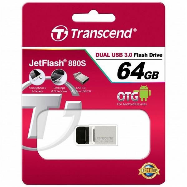 Transcend JetFlash 880S 64 GB OTG microUSB + USB 3.0 TS64GJF880S