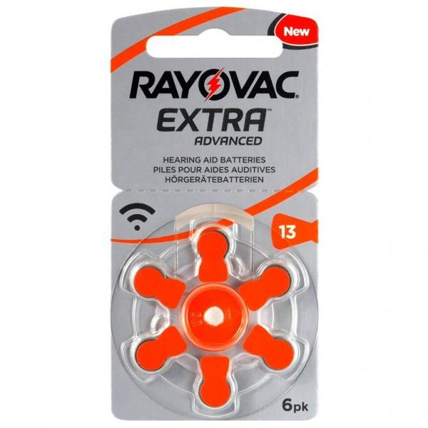 6 x RAYOVAC EXTRA Hörgerätebatterie Zink - Luft Typ 13 1.45V 1 x 6er Blister