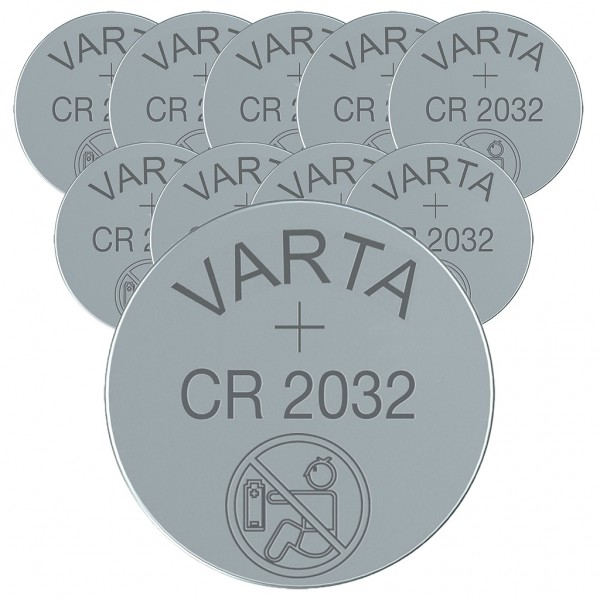 VARTA 10er Batterie Lithium Knopfzelle CR2032 3V bulk