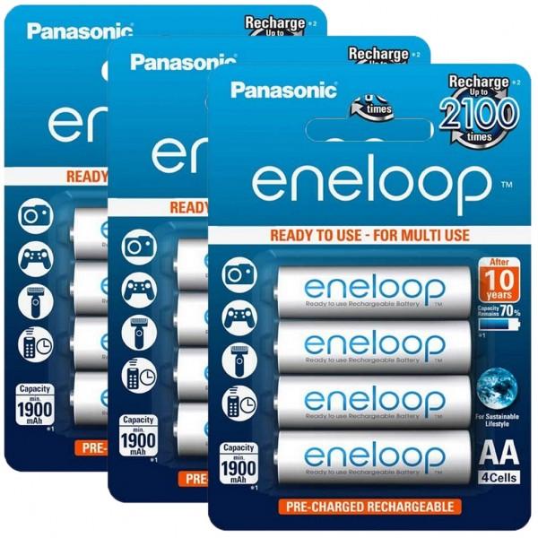 Panasonic eneloop 12er Akku Set AA BK-3MCCE Blister