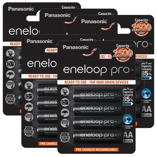 Panasonic eneloop PRO 20er Akku Pack AA BK-3HCDE Blister