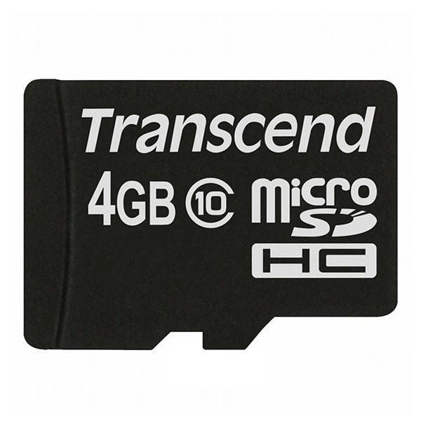 Transcend Micro SDHC 4 GB CARD ONLY Class 10 Speicherkarte TS4GUSDC10