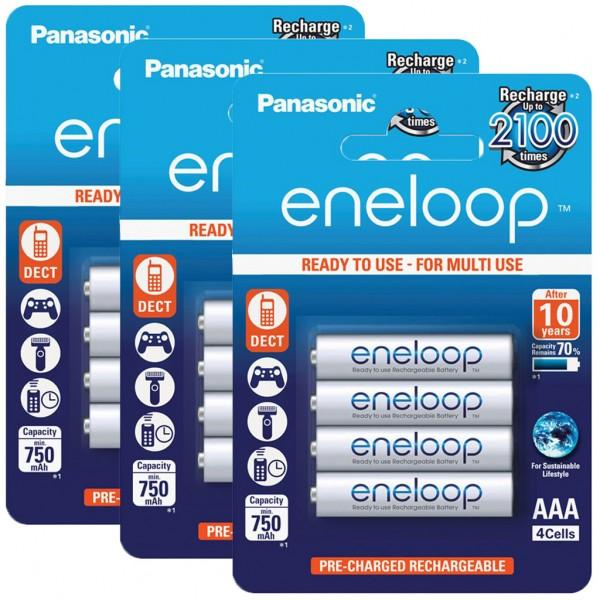 Panasonic eneloop 12er Akku Set AAA BK-4MCCE Blister