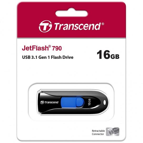 Transcend JetFlash 790 16 GB USB 3.0 Stick schwarz TS16GJF790K