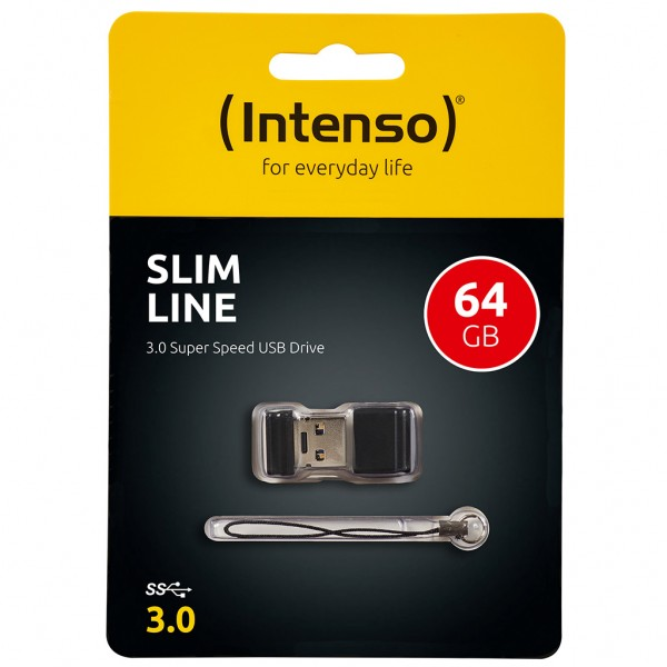 Intenso Slim Line 64 GB USB Stick USB 3.0 SUPERSPEED