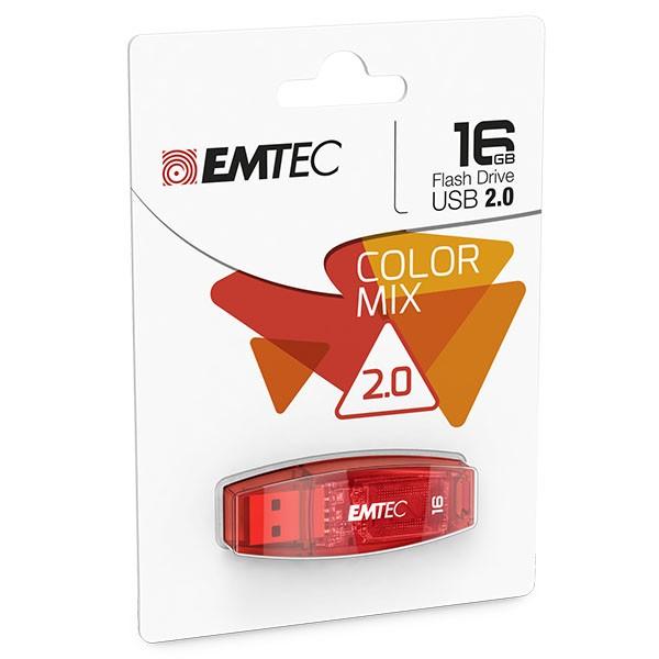 EMTEC USB FlashDrive 16 GB C410 (Rot) USB 2.0