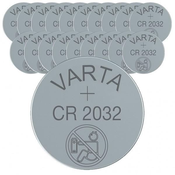 VARTA 20er Batterie Lithium Knopfzelle CR2032 3V bulk