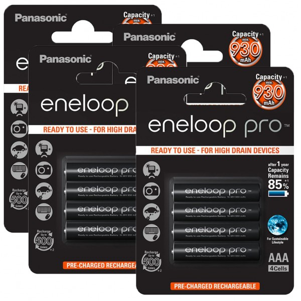 Panasonic eneloop PRO 16er Akku Pack AAA BK-4HCCE Blister